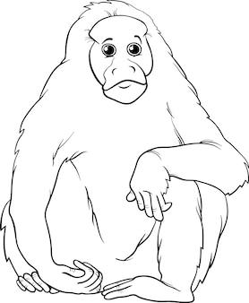 Kolorowanki kreskówka uakari zwierząt