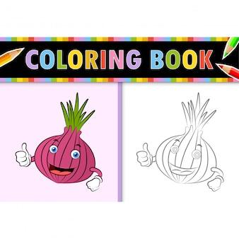 Kolorowanki strona kontur kreskówka szalotka. kolorowa ilustracja, kolorowanka dla dzieci.