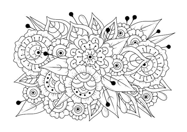 Kolorowanki z kwiatami.