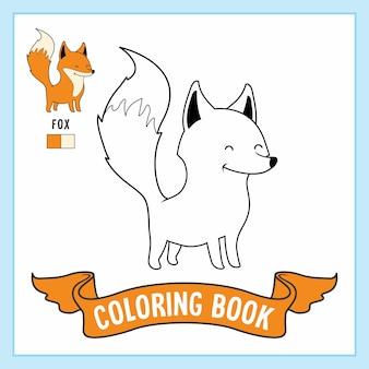 Kolorowanki ze zwierzętami lisa