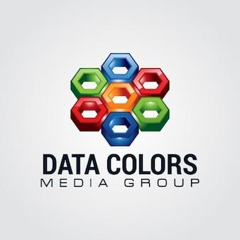 Kolorowe abstract logo
