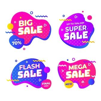 Kolorowe abstrakcyjne banery sprzedaży