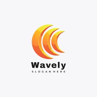 Kolorowe abstrakcyjne falujące logo ilustracja wektor szablon