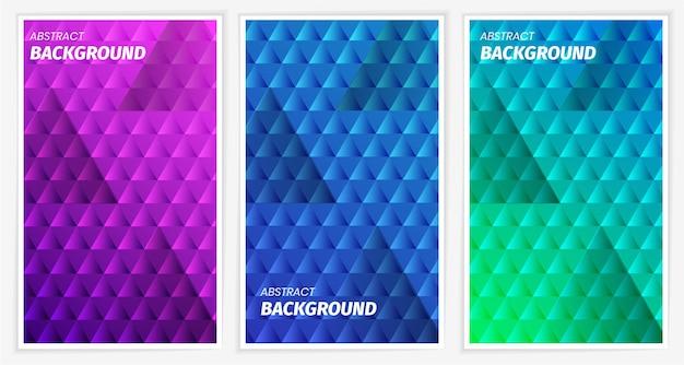 Kolorowe abstrakcyjne geometryczne gradienty kolekcja paczek