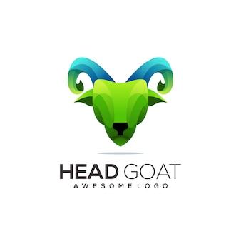 Kolorowe abstrakcyjne gradientowe logo kozy
