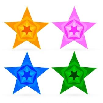 Kolorowe abstrakcyjne gwiazdki