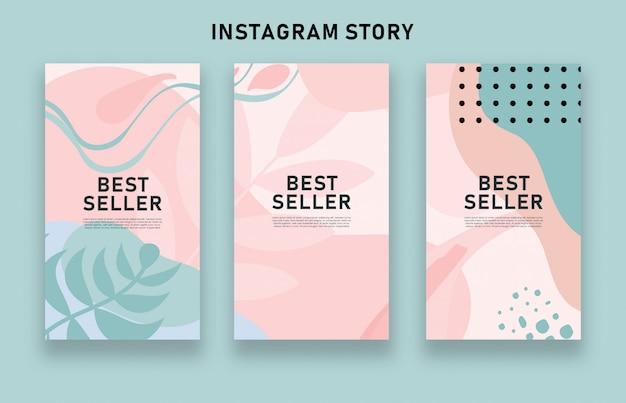 Kolorowe abstrakcyjne historie na instagramie sprzedaży