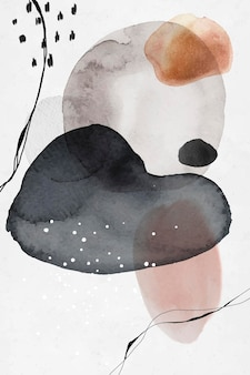 Kolorowe abstrakcyjne koła akwarela projekt