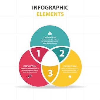 Kolorowe abstrakcyjne koła szablonu biznesu infografika