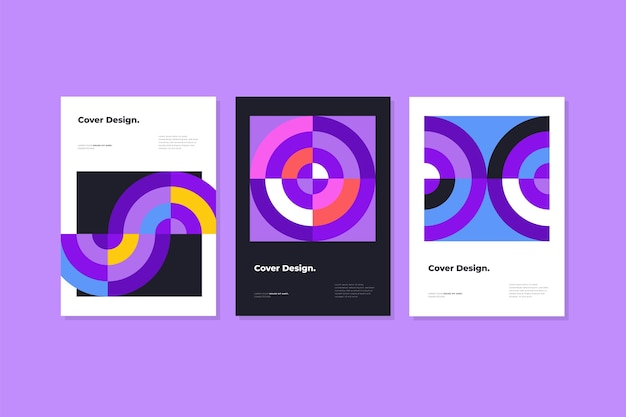 Kolorowe abstrakcyjne kształty obejmują zestawy