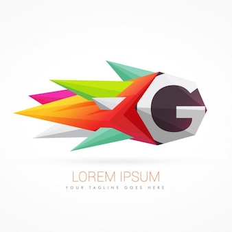 Kolorowe abstrakcyjne logo na literę g