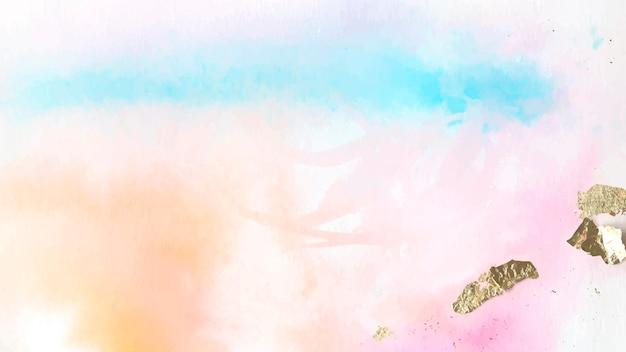 Kolorowe abstrakcyjne malarstwo akwarela tło wektor