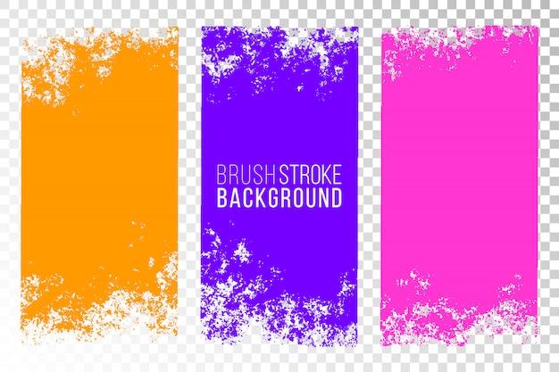 Kolorowe abstrakcyjne obrysy pędzla teksturowane powierzchnie