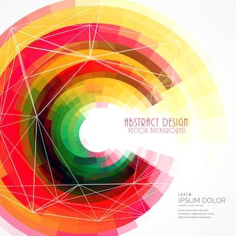 Kolorowe abstrakcyjne okręgu ramki wektora tła