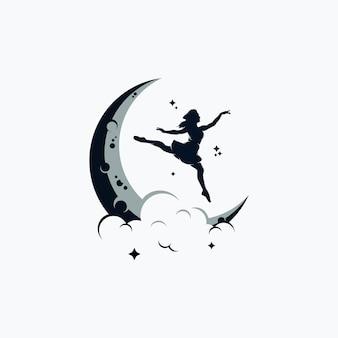 Kolorowe abstrakcyjne projektowanie logo gimnastycznego