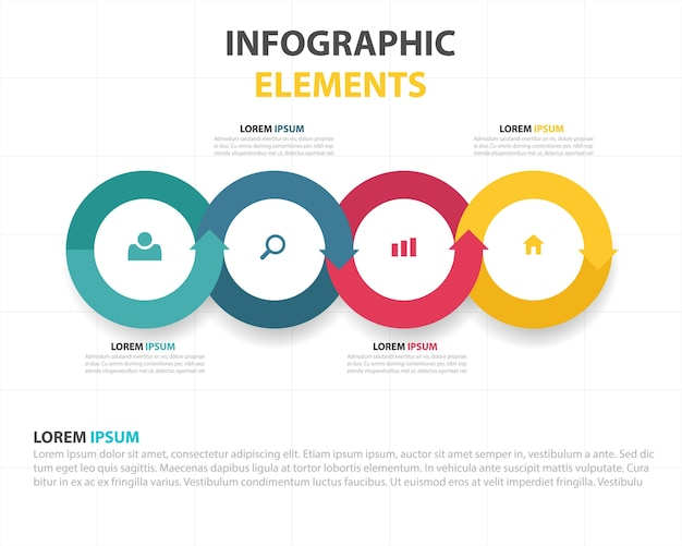 Kolorowe abstrakcyjne sześciokąt szablon biznes infografika