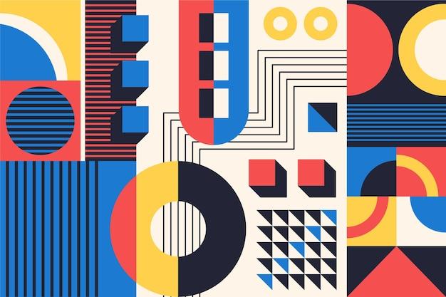 Kolorowe abstrakcyjne tło bauhaus