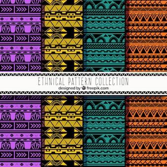 Kolorowe abstrakcyjne wzory etniczne