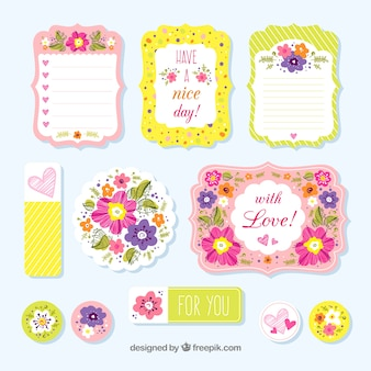 Kolorowe akwarele listy miłosne