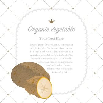 Kolorowe akwarele tekstury natura organiczne warzywo notatka ramka ziemniaczana