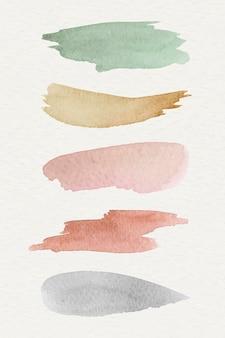 Kolorowe akwarele wzorzyste tło szablon wektor