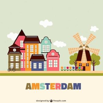 Kolorowe amsterdam architektury