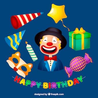 Kolorowe atrybuty urodzinowe