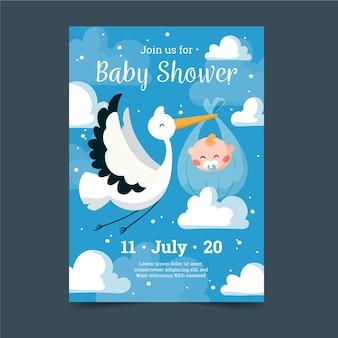 Kolorowe baby shower zaproszenia