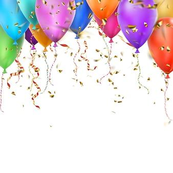 Kolorowe balony i miejsce.