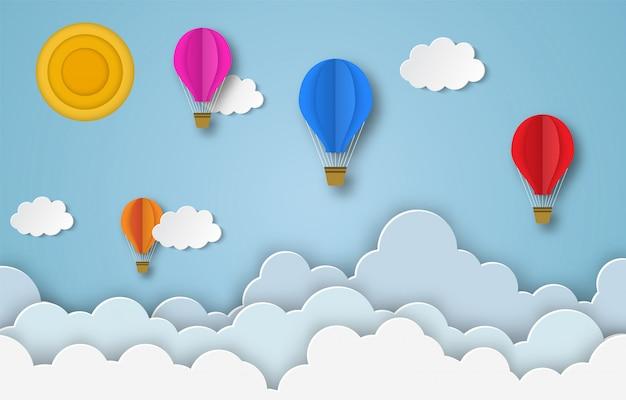 Kolorowe balony latające
