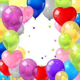Kolorowe balony tło