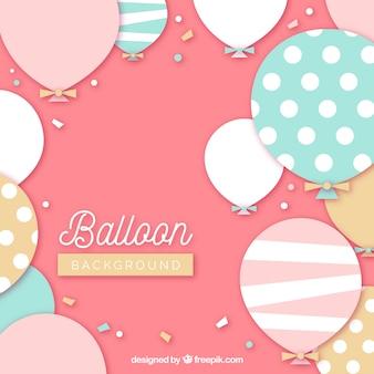Kolorowe balony tło, aby świętować