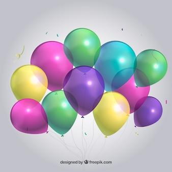 Kolorowe balony tło w realistyczny styl