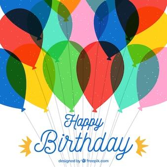 Kolorowe balony urodzinowe tle