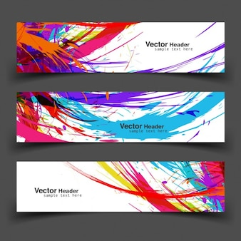 Kolorowe banery grunge