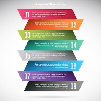 Kolorowe banery infografika