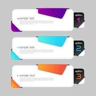 Kolorowe banery infografiki