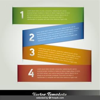 Kolorowe banery infographic w zig zag