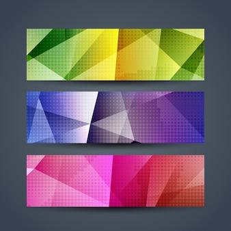 Kolorowe banery set nowoczesne