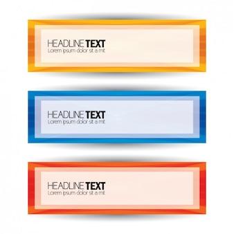 Kolorowe banery set
