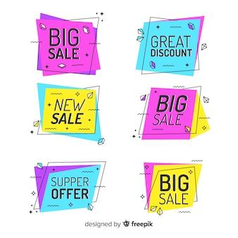 Kolorowe banery sprzedaż memphis