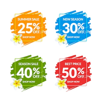 Kolorowe banery sprzedaż