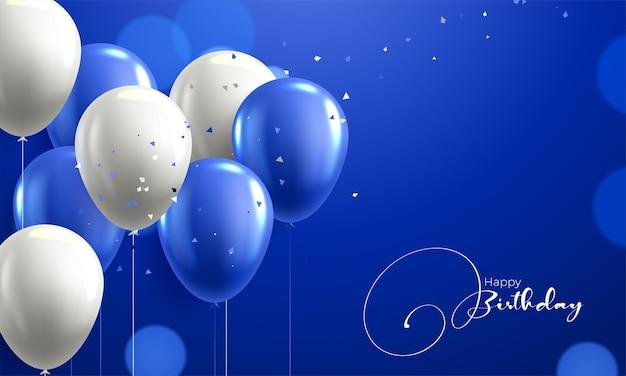 Kolorowe błyszczące balony urodzinowe banner tło