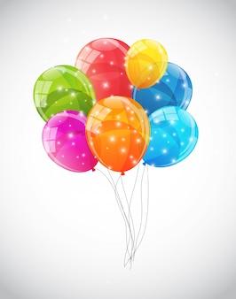 Kolorowe błyszczące balony