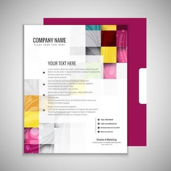 Kolorowe broszury szablonu