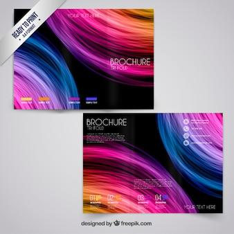 Kolorowe broszury w stylu abstrakcyjna