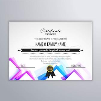 Kolorowe certyfikatów tle