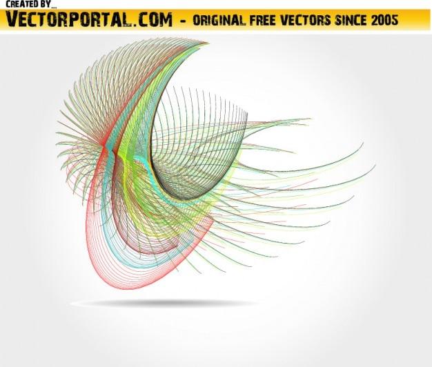 Kolorowe cienkie linie abstrakcyjne tło