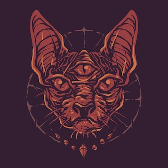 Kolorowe czarnej magii sfinks cat