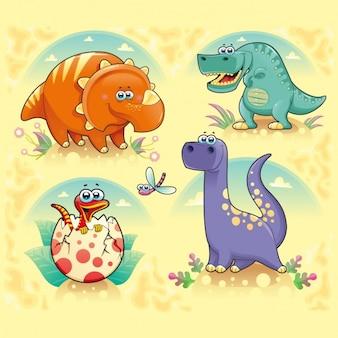Kolorowe dinozaury kolekcja